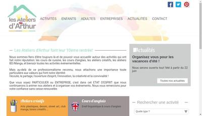 Site internet de Les Ateliers d'Arthur