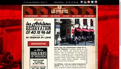 Site internet de Les Athletes