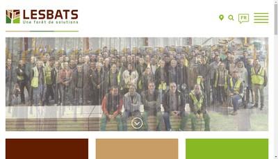 Site internet de Lesbats Scieries d'Aquitaine