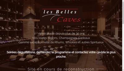 Site internet de Les Belles Caves