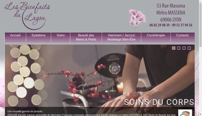 Site internet de Les Bienfaits du Lagon