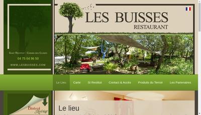 Site internet de Restaurant les Buisses