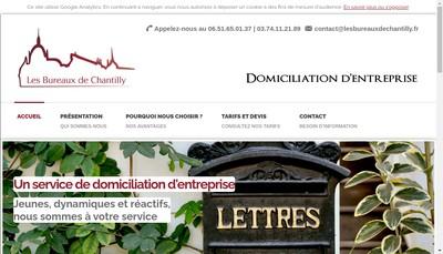 Site internet de Les Bureaux de Chantilly