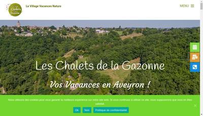Site internet de Les Chalets de la Gazonne