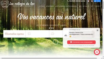 Site internet de Les Cottages du Lac