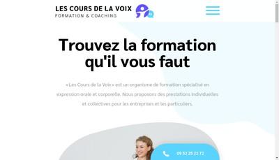 Site internet de Les Cours de la Voix