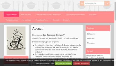 Site internet de Les Douceurs d'Arnaud