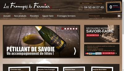 Site internet de Les Fromages du Fermier