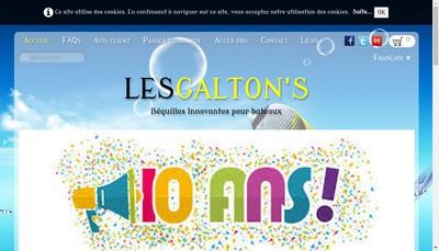 Site internet de Les Galton'S