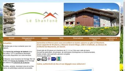 Site internet de Gite le Shantone