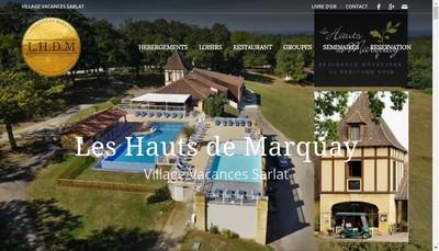 Site internet de Les Hauts de Marquay