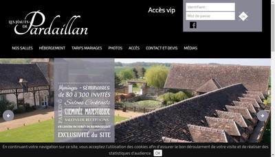 Site internet de Les Hauts de Pardaillan