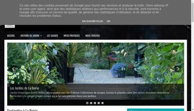 Site internet de Les Jardins de la Boirie