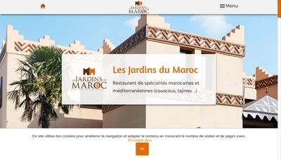 Site internet de Les Jardins du Maroc