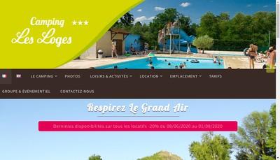 Site internet de Camping les Loges