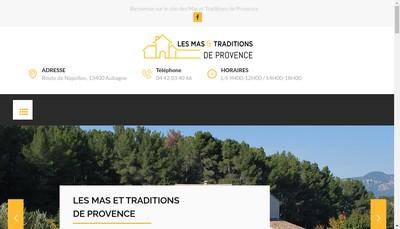 Site internet de Les Mas et Traditions de Provence