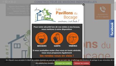 Site internet de SARL les Pavillons du Bocage