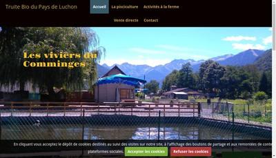 Site internet de Les Viviers du Comminges