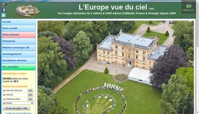 Site internet de L'Europe Vue du Ciel