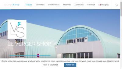 Site internet de Le Verger Shop