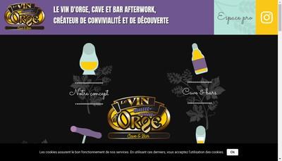 Site internet de Le Vin d'Orge