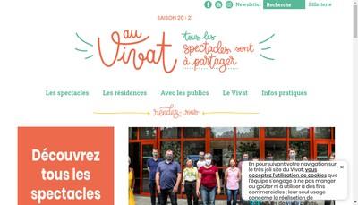 Site internet de Vivat Association Develop Culturel Armentieres