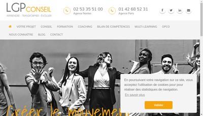 Site internet de Lgp Conseil