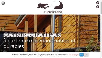 Site internet de L'Habitat Sain - Construction Sante et Environnement