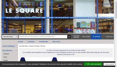 Site internet de Le Square Librairie de l'Universite
