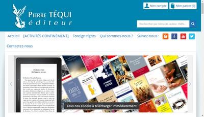 Site internet de Librairie Pierre Tequi