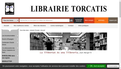 Site internet de SARL Torcatis Librairie Papeterie