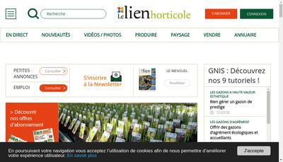Site internet de Lien Horticole Librairie Verte