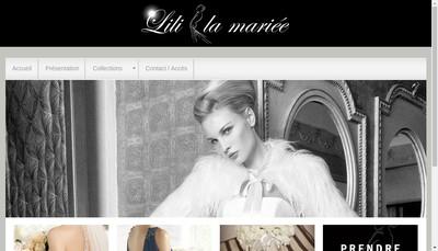 Site internet de Lili la Mariee