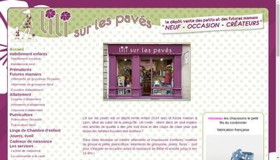 Site internet de Lili sur les Paves
