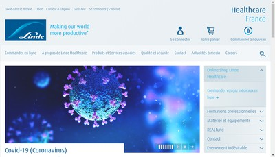 Site internet de Aga Medical SA - Linde Healthcare - Linde Gas