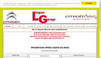 Site internet de Lingon Garage