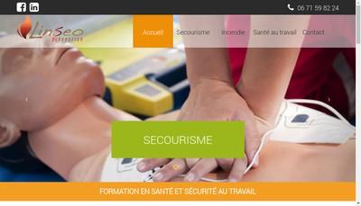 Site internet de Linseo Prevention