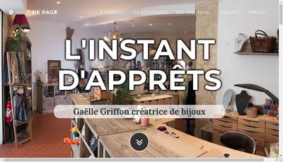 Site internet de L'Instant d'Apprets