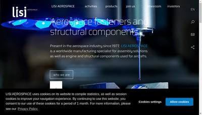 Site internet de Lisi Aerospace Structural Components