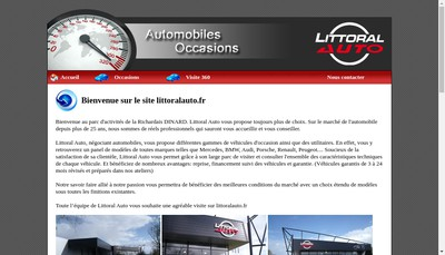 Site internet de Littoral Auto