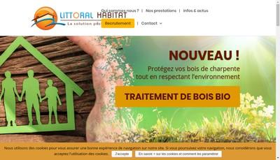 Site internet de Littoral Habitat SARL