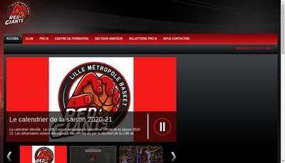Site internet de Lille Metropole Basket Sasp - Lmb Sasp
