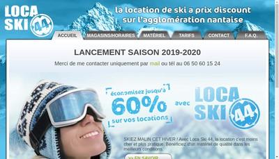 Site internet de Locaski 44