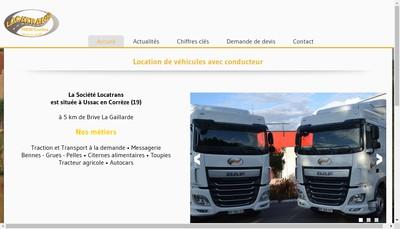 Site internet de Locatrans
