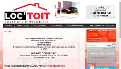 Site internet de Loc'Toit