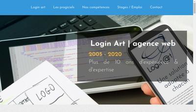 Site internet de Login Art (Login @Rt)