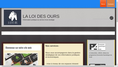 Site internet de La Loi des Ours