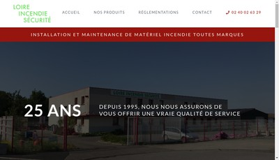 Site internet de Loire Incendie Securite Lis