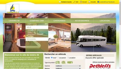 Site internet de Loisirs 44