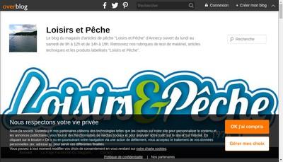 Site internet de Loisirs et Peche - les 2 Savoie